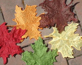 Embroidered Organdy Leaves