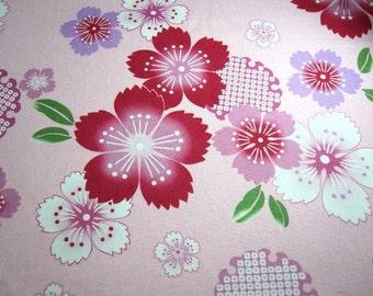 SALE Japanese Fabric Big Cherry Blossom Pink Fat Quarter (FR5)