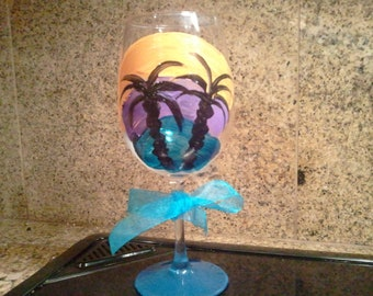 """Palm tree Paradise """"Its a sip of Wine its Summertime"""""""