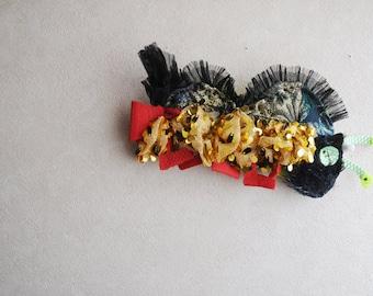 Decorative caterpiller pin brooch