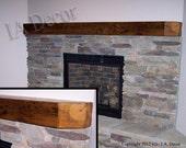 Reclaimed Wood Fireplace Mantle - CUSTOM Mantles, Beam Mantles Barn wood mantles