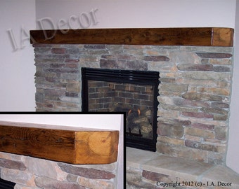 Reclaimed Wood Fireplace Mantle - CUSTOM Mantles, Beam Mantles Barn wood mantles