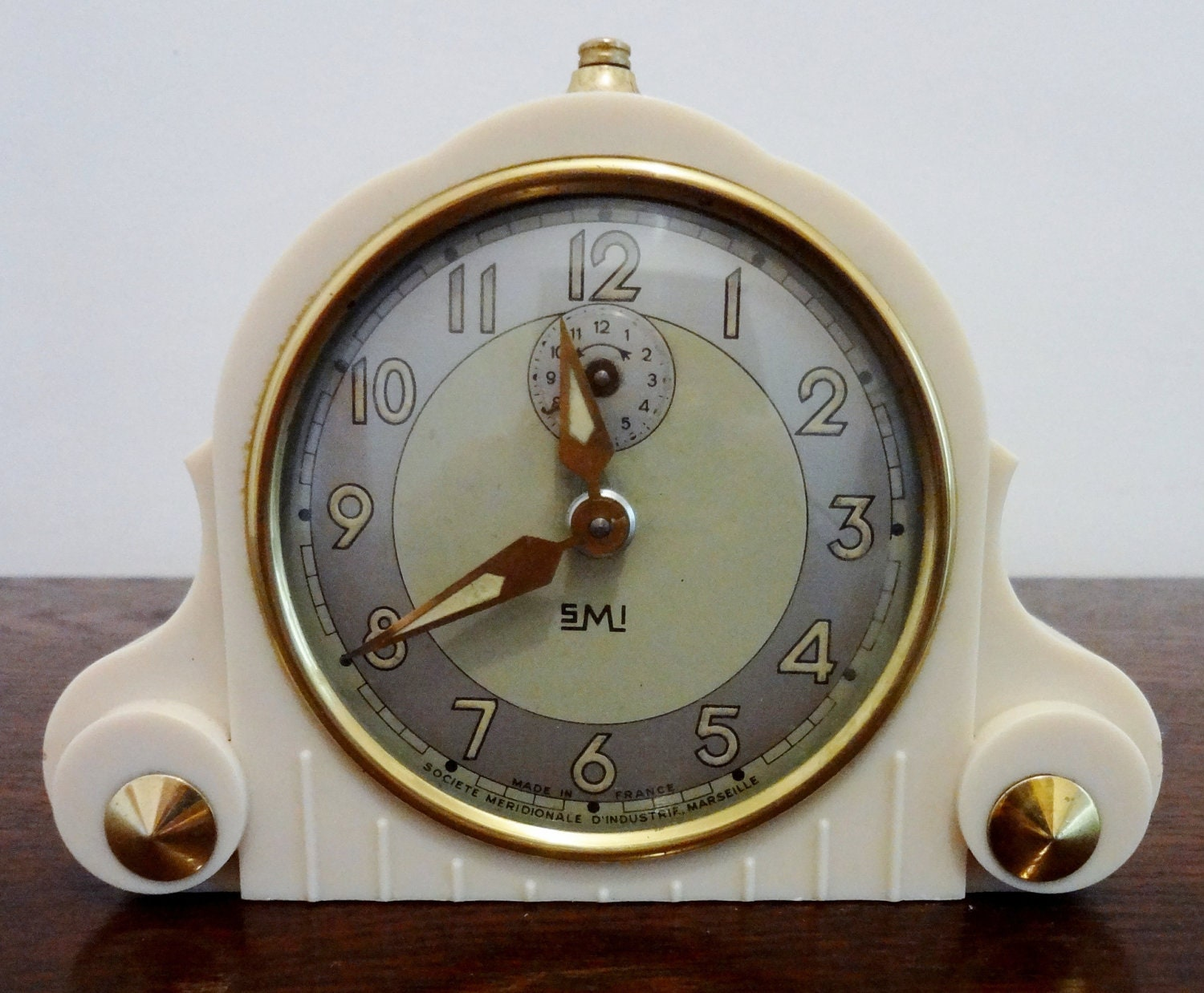 Original french art deco smi alarm clock functions Art deco alarm clocks