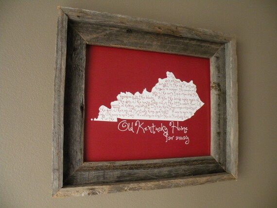 My Old Kentucky Home Map Print
