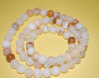 Wrap around white onyx bracelet