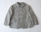 Vintage wool toddler jacket, 2T to 3T. High quality Italian made. Unisex