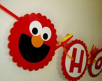 Sesame Street Elmo Birthday Banner