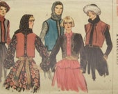 Vintage 1970's Vogue Pattern for Misses' Jacket and Vest in Size Small 8 - 10