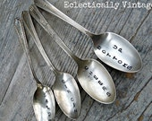 Reserved for Teresa - 2 Stamped Silver Spoons