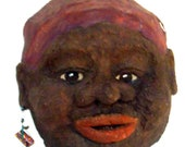 African-Woman-Handmade-Sculptured-Art-3D-Wall Hanging-Face