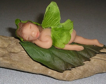 "Angel fairy forest boy polymer clay hand sculpted ooak miniature art doll ""Foster"""