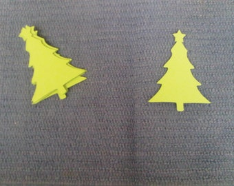 Christmas Tree with Star Paper Cut-out
