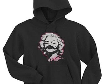 Hoodie / Marilyn Monroe Moustache