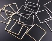 10pcs-33mm Glod,Rhodium plated Bress simple square pendants(K324)