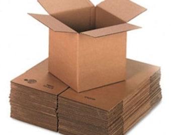 """10  6""""x6""""x6"""" Cardboard Boxes"""