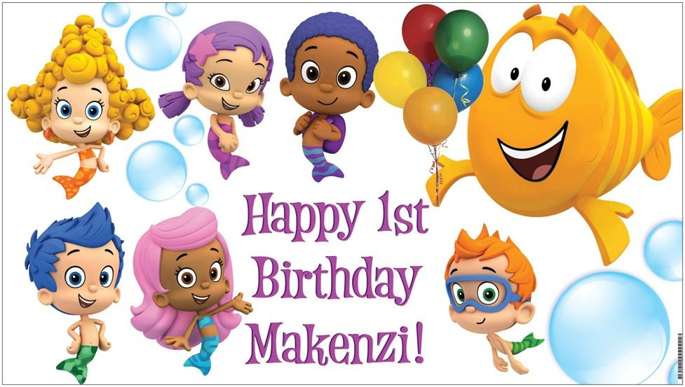Bubble Guppies 1st Birthday Invitations