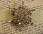 Sparkle hollywood flower wedding bridal rhinestone crystals brooch pin