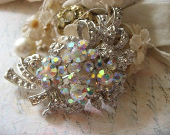 Sparkle wedding bridal AB rhinestone crystals brooch pin, rhinestones brooch, wedding brooch, bridesmaids brooch, bridal jewelry