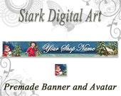Christmas  Shop Banner and Avatar Set Holiday Clip Art Winter Clip Art  Digital Clip Art Printable Clip Art Shop Banner