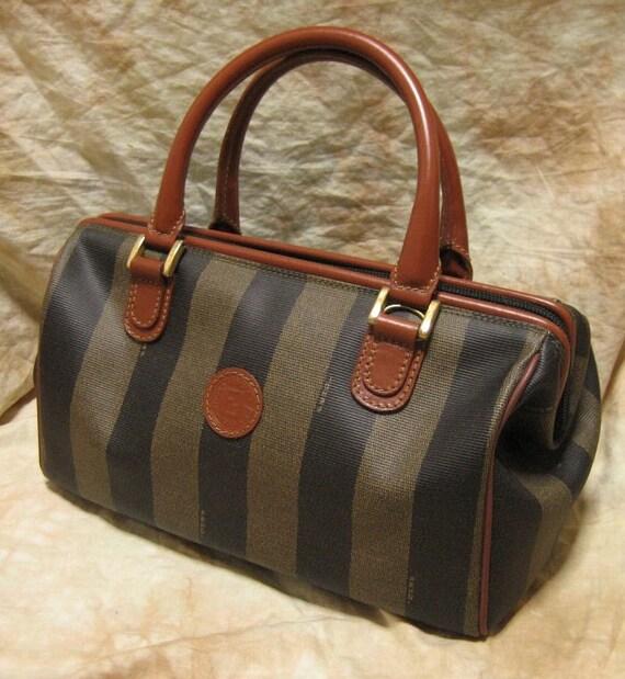 FENDI / Vintage Hand bag / Pekan Pattern Boston Bag / 100% authentic