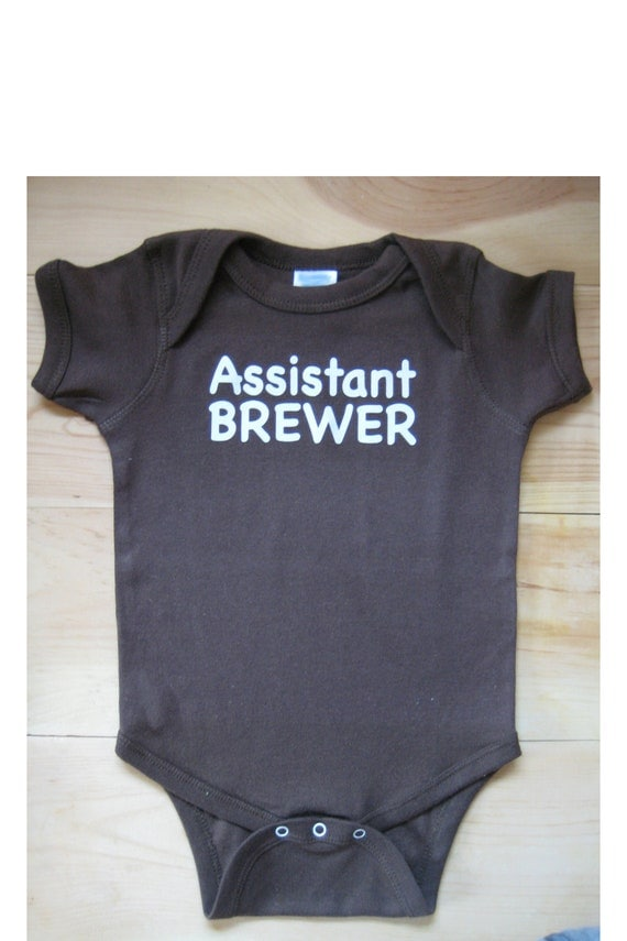 Assistant Brewer Brewer's Onesie Baby Infant Child Homebrew Home Brew Homebrewer Brewing HomeBrewing Beer gift son father shower gift  6mths