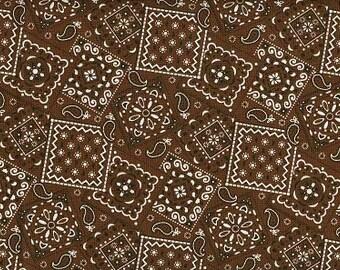 Chocolate Bandana fabric   100 percent cotton   BTY