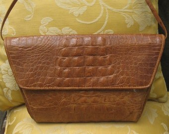 Genuine Leather Hand bag By Danielle Nicole faux gator