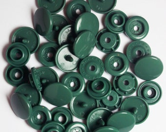 100 Sets Hunter Green (B-31) KAM Plastic Resin Snaps For Crafts, Baby, Clothes, Bibs, Diapers and Scarves
