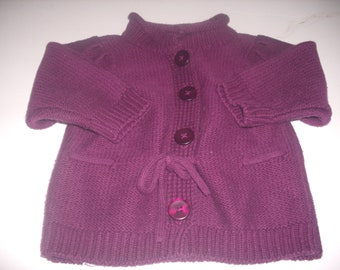 pretty plum baby sweater