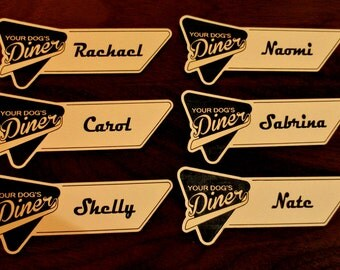CUSTOM - Business Name Tag with Magnet Back