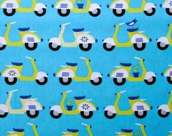 Monaluna Organic Fabrics Havana Collection One Yard of Scoot in Blue