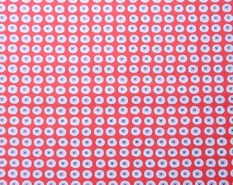 Monaluna Organic Fabrics Havana Collection One Yard of Buttons in Red