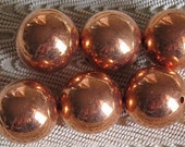 Large 22MM Seamless Round Copper Vintage Beads 6