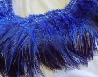 Rich Navy Blue Rooster Hackle Feathers Wholesale Bulk Lot Design Craft Supply Costume Hair Extension