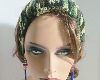 Crochet Camouflage Headband