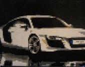 Huge Custom LEGO Mosaic Wall Art Mans Room 20x30