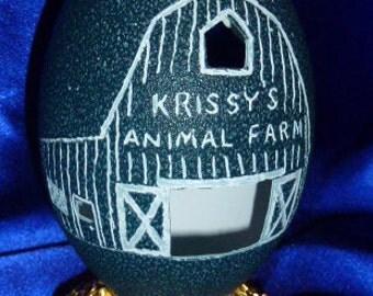 Carved Emu: Krissy's Animal Farm