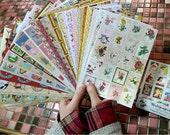 Pictorial sticker Set - Euro Vintage Sticker Set - Paper Sticker Set - Deco Sticker Set - 24 sheets