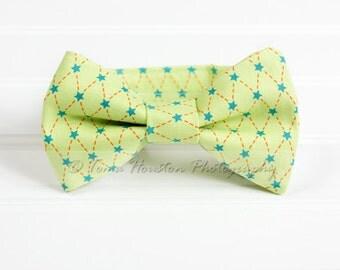Boy's Bow Tie, Newborn, Baby, Child- Stars, Green, Blue, Orange (2-3 Business Day Processing)