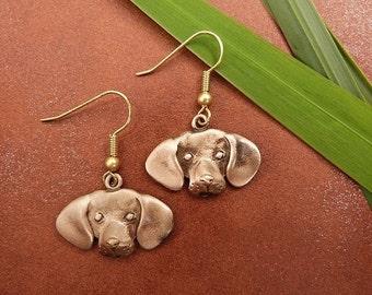 Bronze Beagle Earrings