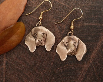 Bronze Coonhound Earrings
