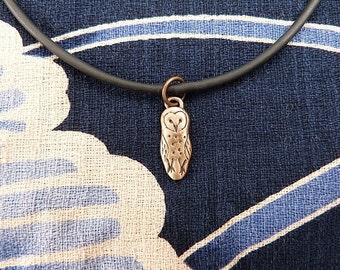 Bronze Barn Owl Necklace