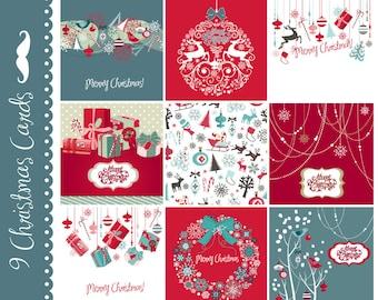christmas clip art 20 retro ornaments clipart by graphicmarket. Black Bedroom Furniture Sets. Home Design Ideas