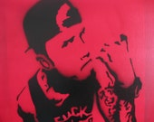 "Machine Gun Kelly MGK Graffiti Stencil Art 20""x16"""