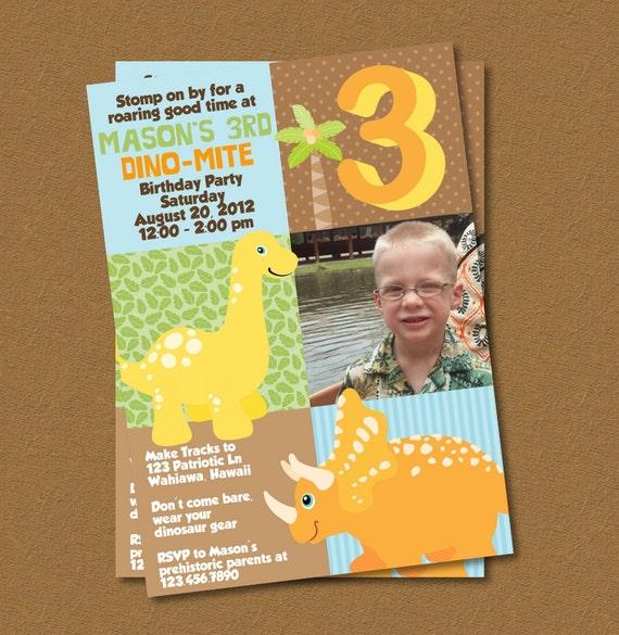 Dino-Mite Printable Birthday Invitation
