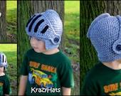 Crochet Sir Knight Helmet kids size