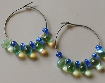 Green and blue hoops