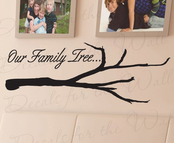 Our Family Tree Love Home Picture Frames Adhesive Vinyl Wall