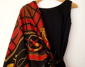 Reserved for ELENA. Large Square Italian Scarf for the Horse Lover for Fall or Winter.