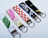 Keychain . Key Chain . Wristlet . Key Bracelet . Fabric Key Fob . Fabric Keychain . Valentine Gift . Gifts for Teachers . Pick Two .